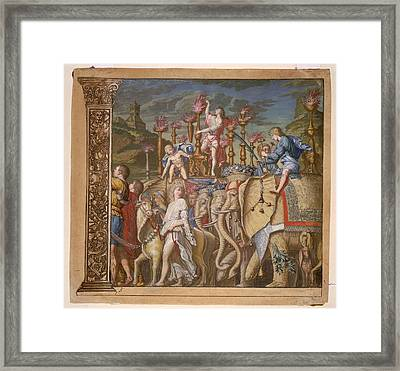 The Triumph Of Julius Caesar - Plate 5 - 1598 Framed Print by Andreani and Andrea
