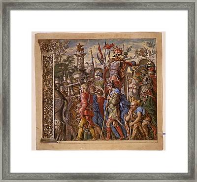 The Triumph Of Julius Caesar - Plate 6 - 1598 Framed Print by Andreani and Andrea