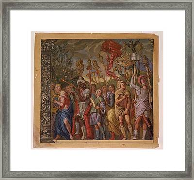 The Triumph Of Julius Caesar - Plate 8 - 1598 Framed Print by Andreani and Andrea