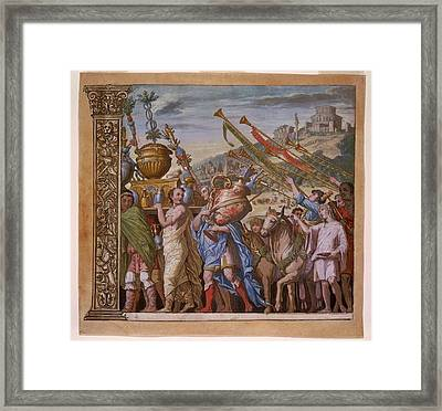 The Triumph Of Julius Caesar - Plate 4 - 1598 Framed Print by Andreani and Andrea