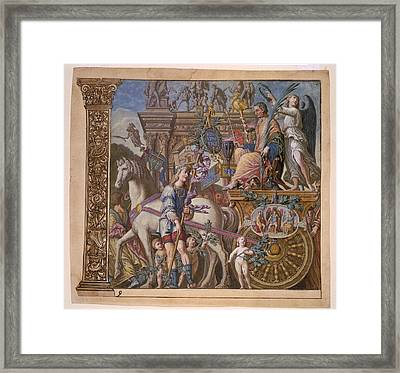 The Triumph Of Julius Caesar - Plate 9 - 1598 Framed Print by Andreani and Andrea