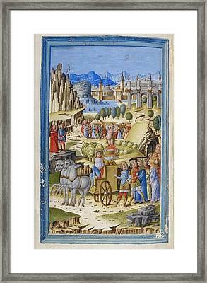 The Triumph Of Love Framed Print by British Library