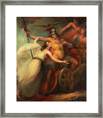The Triumph Of Mercy, From Collins Ode To Mercy Framed Print by Litz Collection