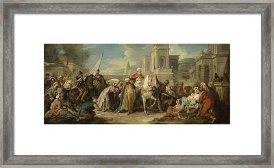 The Triumph Of Mordecai Framed Print by Jean Fran�ois de Troy