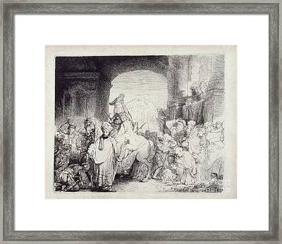 The Triumph Of Mordecai Framed Print by Celestial Images