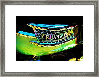 The Triumph Petrol Tank Framed Print by Steve Taylor