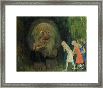 The Troll Lured The Girls With Gold Framed Print