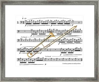 The Trombone Framed Print