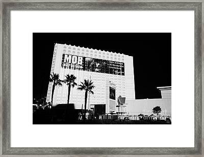 the tropicana hotel and casino Las Vegas Nevada USA Framed Print