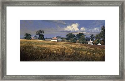 The Trostle Farm Gettysburg Framed Print