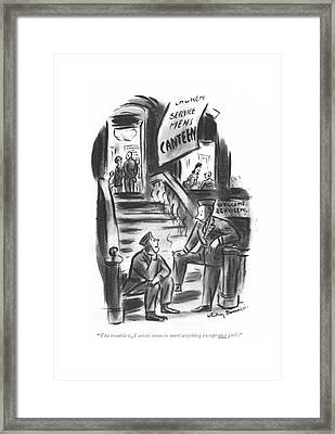 The Trouble Framed Print