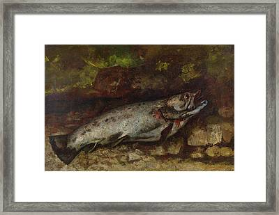 The Trout, 1873  Framed Print by Gustave Courbet