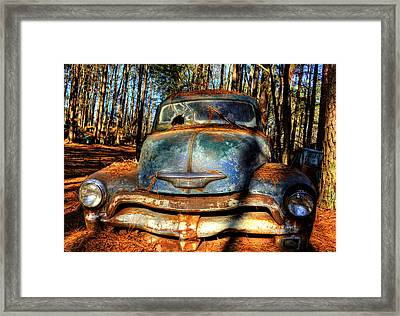 The Truck In The Woods Framed Print