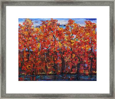 The True North Proud And Free Framed Print by Kathy Peltomaa Lewis