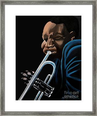 Framed Print featuring the painting The Trumpeter by Barbara McMahon
