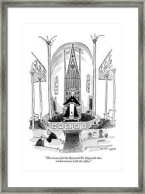 The Trustees Feel The Reverend Dr. Clapsattle Framed Print