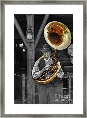 The Tuba Cowboy II Framed Print by Lee Dos Santos