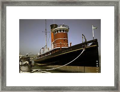 The Tug Boat Hercules Framed Print by William Havle