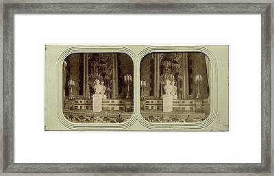 The Tuileries Throne Room France, Attributed To Florent Grau Framed Print