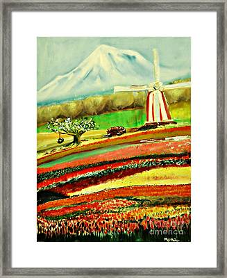 The Tulip Farm Framed Print by Mindy Bench