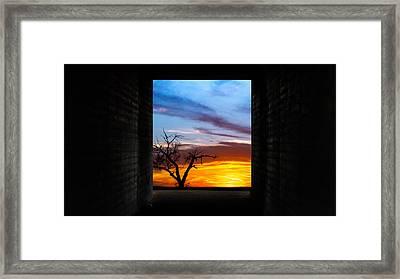 The Tunnel   Sunset1 Framed Print