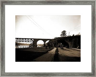 The Tunnel, River Drive, Fairmount Park, Philadelphia Framed Print by Litz Collection