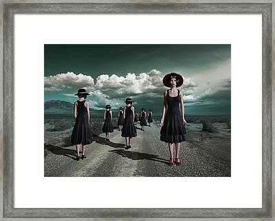 The Turn Framed Print by Britta Glodde