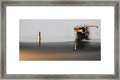 The Turntable Framed Print
