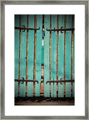 The Turquoise Gate Framed Print
