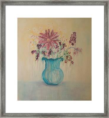 The  Turquoise Vase Framed Print