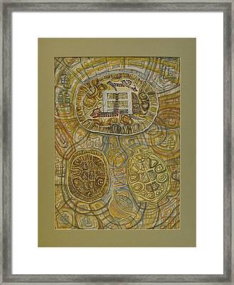 The Turtle Snake Framed Print by Ousama Lazkani