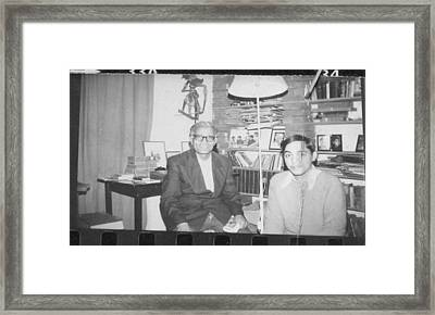 Framed Print featuring the photograph The Tutorial. 1977 by Arjun L Sen