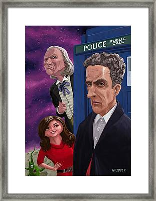 The Twelfth Doctor Who Framed Print by Martin Davey