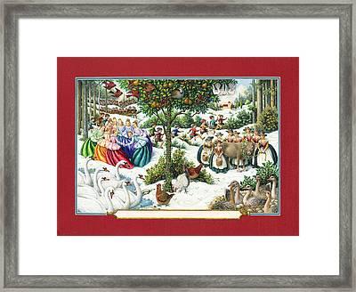 The Twelve Days Of Christmas Framed Print