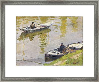 The Two Anglers Framed Print by Claude Monet