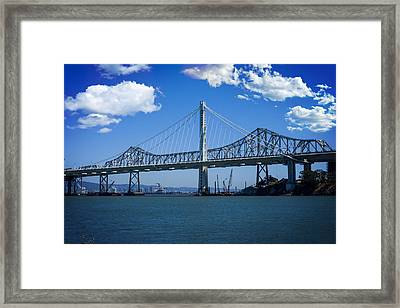 The Two Bridges Framed Print by SFPhotoStore