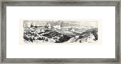 The Two Columns Of Attack Of The Mayran Division Framed Print by Litz Collection