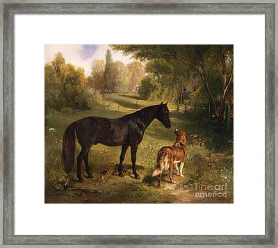 The Two Friends Framed Print