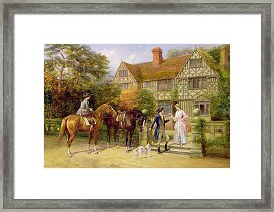 The Two Roses Framed Print by Heywood Hardy