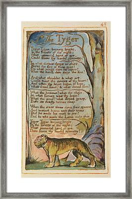 'the Tyger' Framed Print by British Library