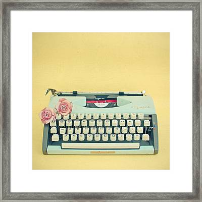The Typewriter Framed Print by Cassia Beck