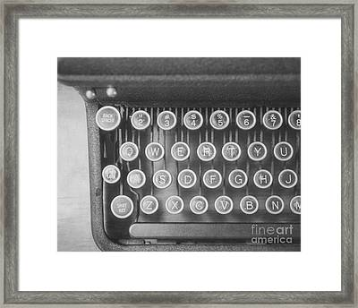 The Typewriter Framed Print by Jillian Audrey Photography