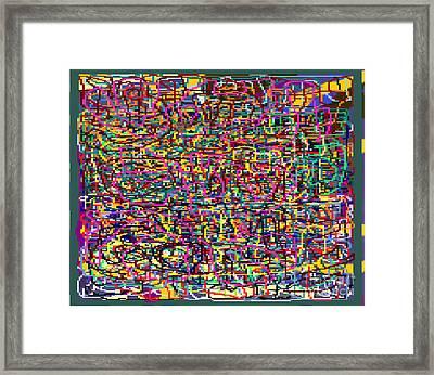 The Tzaddik Lives On Emunah 21e Framed Print
