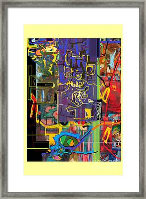 The Tzaddik Lives On Emunah 9c Framed Print by David Baruch Wolk
