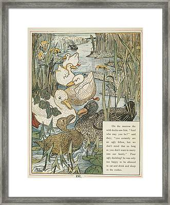 The Ugly Duckling Framed Print by British Library