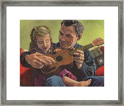 The Ukelele Lesson Framed Print by Paige Wallis