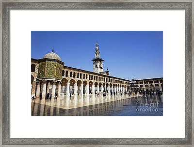 The Umayyad Mosque Damascus Syria Framed Print by Robert Preston