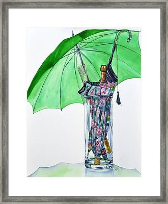 The Umbrella Plan Framed Print by Jane Loveall
