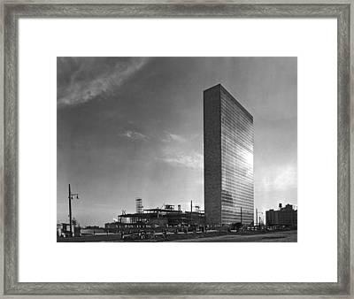 The Un Under Construction Framed Print by Underwood & Underwood