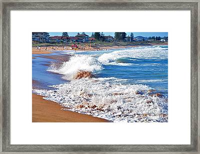 The Undefined Beauty Of Waves Framed Print by Kaye Menner